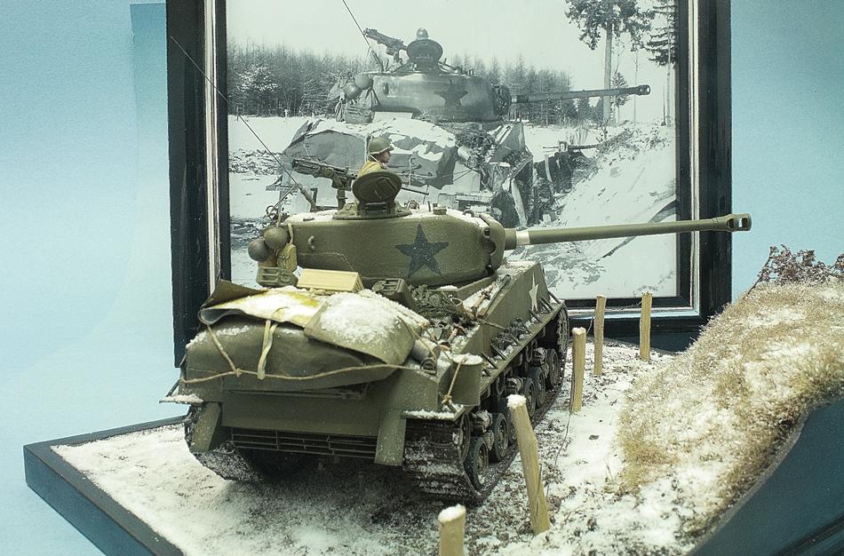 Battle of the Bulge M4A3E8 Sherman U S  4th Armoured