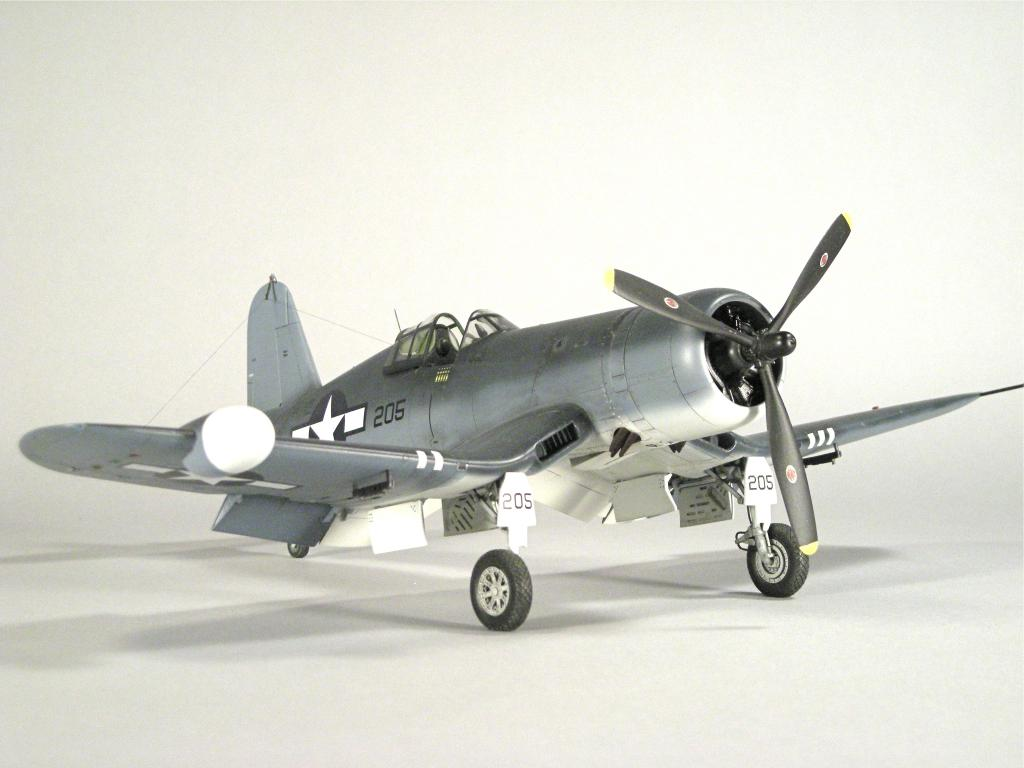 "Iwata Airbrush Kit >> Tamiya 1/48th Scale F4U-2, ""BLACK GEORGE"" VMF (N)- 532, South Pacific, 1944 