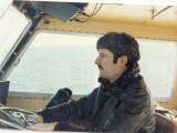 Mike at the helm 1977