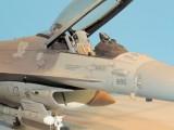 F-16 cockpit and intake