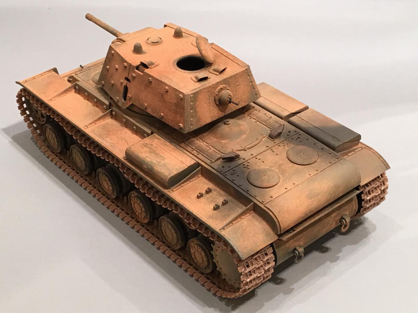 1/35 Tamiya KV-1 Russian tank with Bolt on Armor | iModeler