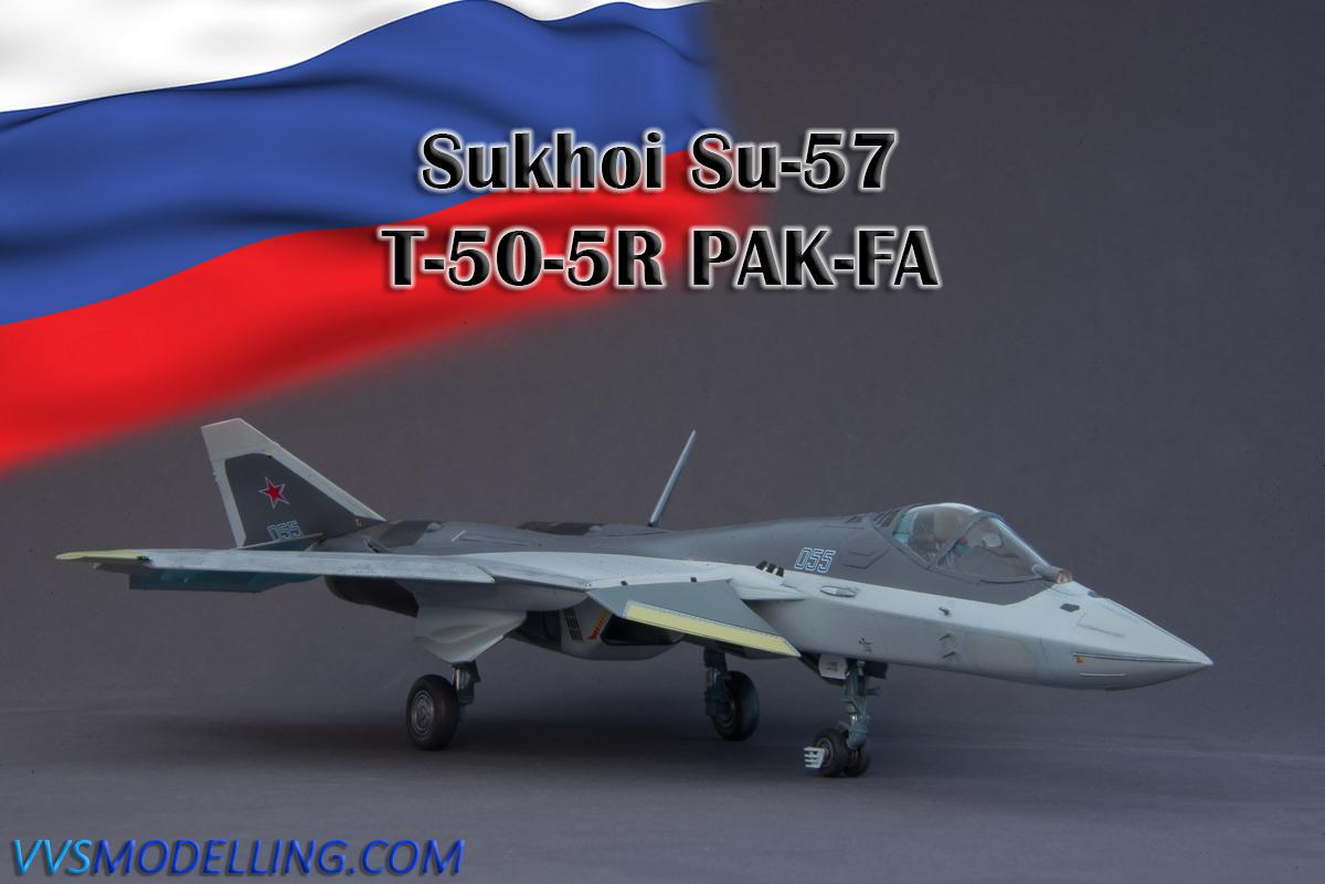 Sukhoi T-50 Russian Fighter 1:72 Plastic Model Kit ZVEZDA