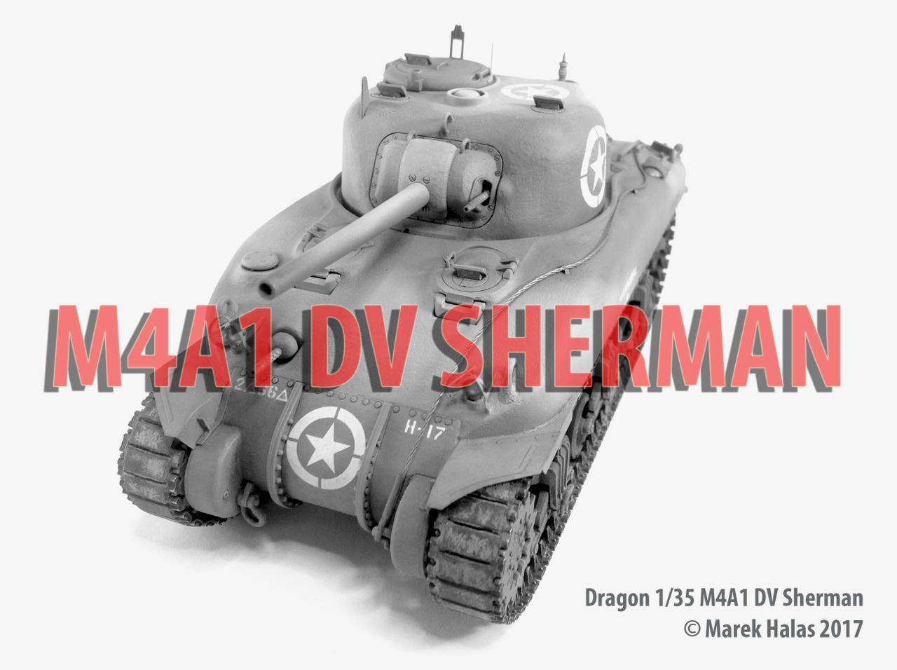 Dragon 1/35 M4A1 DV Sherman Tank | iModeler