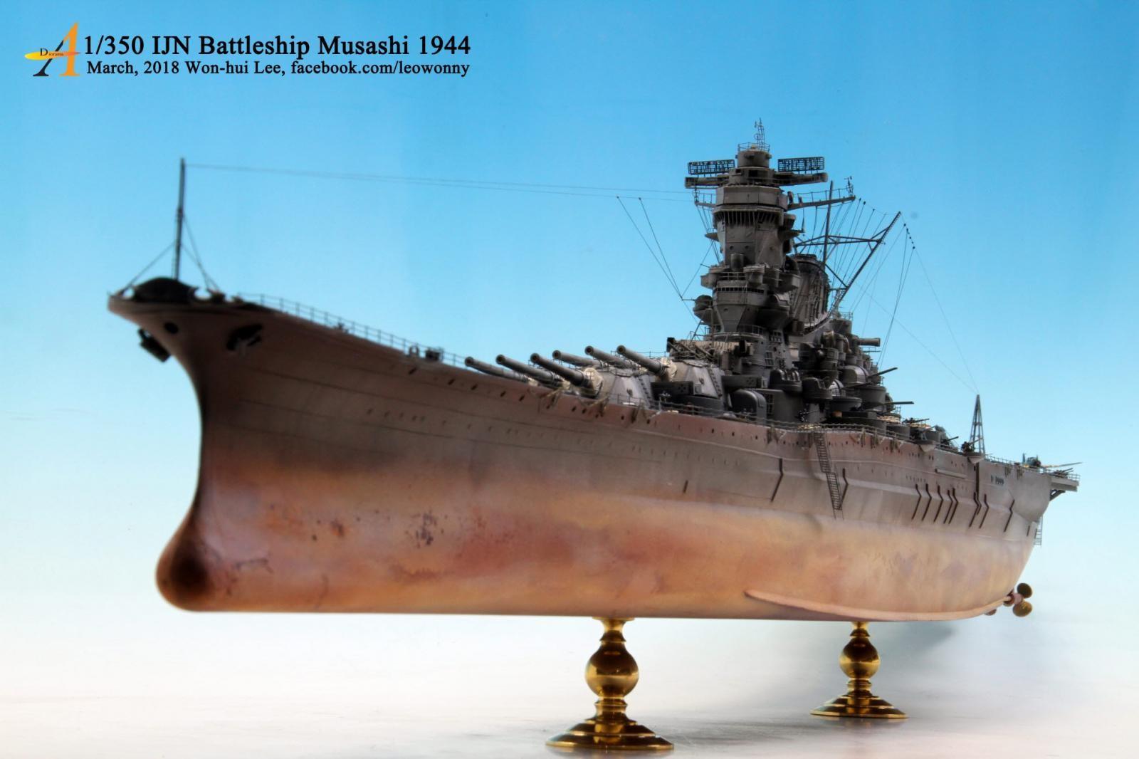 1 350 ijn battleship musashi 1944 imodeler