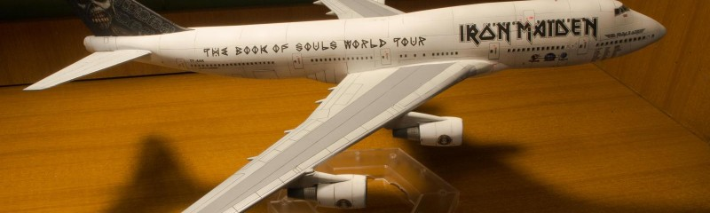 Ed Force One Iron Maiden Boeing 747-400 1/144