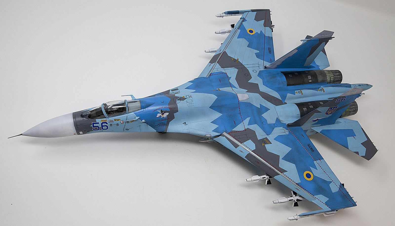 Foxbot Decals 1//72 SUKHOI Su-27UBM FLANKER Ukrainian Digital Scheme Paint Masks